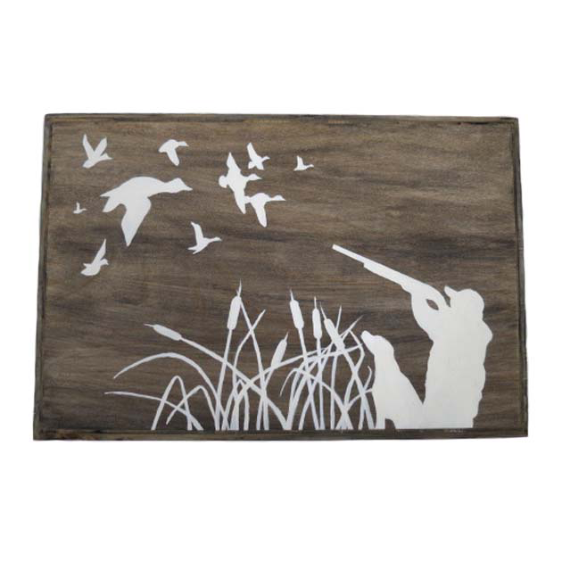 Hand Painted Waterfowl Scene