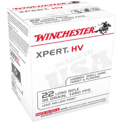 Winchester Xpert HV .22 LR 36 Grain Hollow Point *DISCONTINUED*