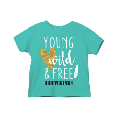 Browning Young, Wild, Free Youth Short Sleeve T-Shirt
