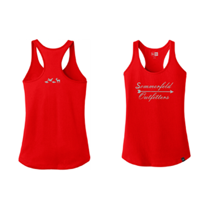 Sommerfeld Outfitters Ladies Tank Top - Red/Silver