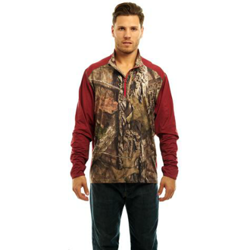 Trailcrest Men's Mossy Oak Camo Impluse 4-Way 1/4 Zip