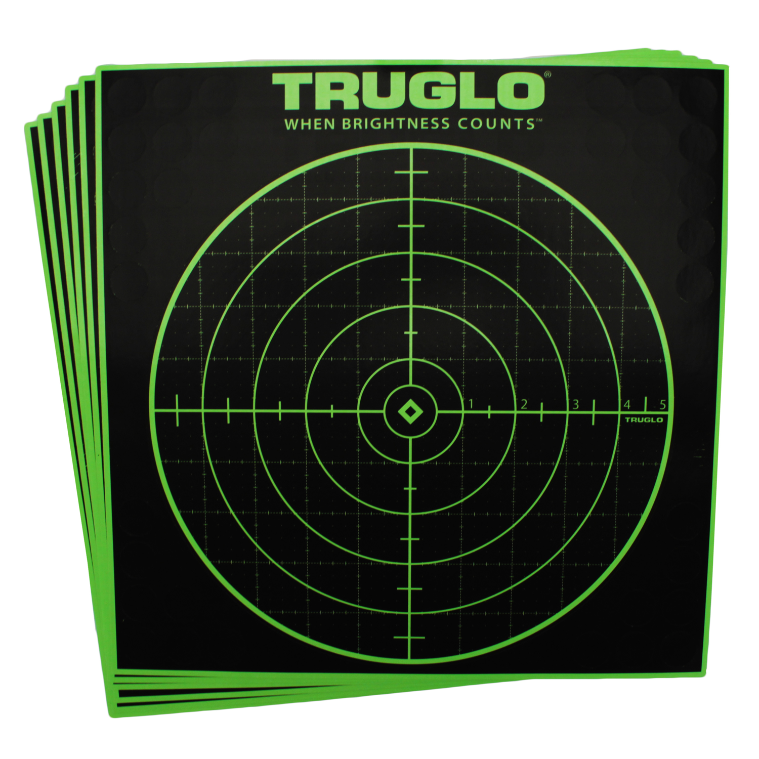 TruGlo Tru-See Targets Bullseye 12x12 - 6 Pack = OUT OF STOCK